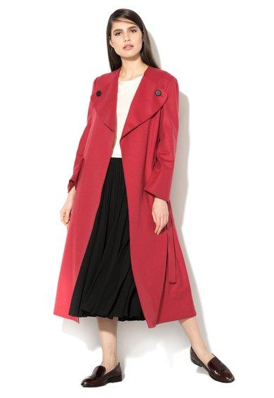 MaxCo Palton maxi rosu din amestec de lana Deciso