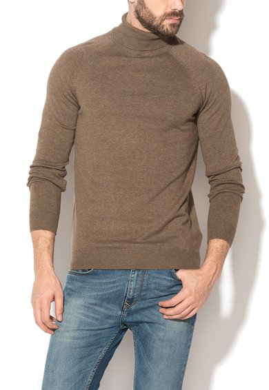 FashionDays.ro: Pulover maro melange tricotat fin Dadam Selected Homme
