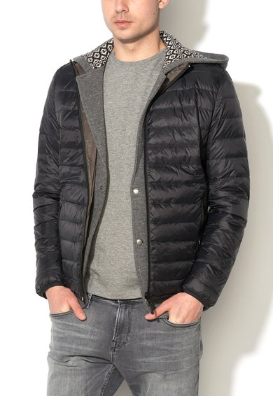 Jacheta reversibila cu umplutura negru cu kaki inchis de la ESPRIT