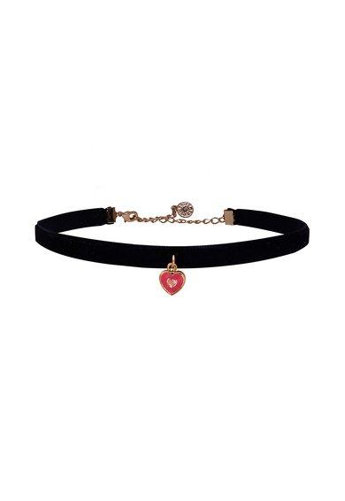 Colier negru catifelat la baza gatului I Love My Jewels de la LMTS