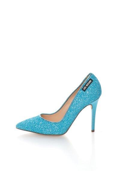 FashionDays.ro: Pantofi stiletto albastri cu particule stralucitoare Love Moschino