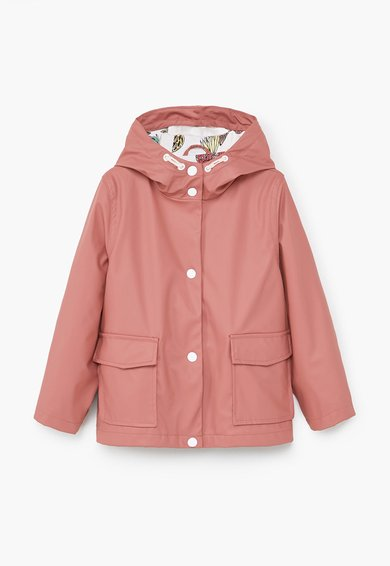 Jacheta roz mineral impermeabila cu gluga Lucy