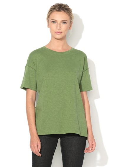 United Colors Of Benetton Tricou verde feriga cu maneci ample Craft