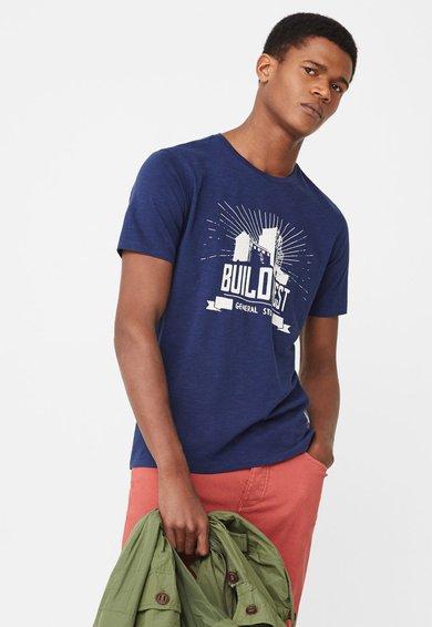 Tricou bleumarin cu imprimeu Ralls