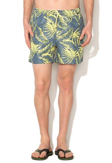 Pantaloni scurti de baie albastru prafuit cu imprimeu St. Tropez de la Skiny