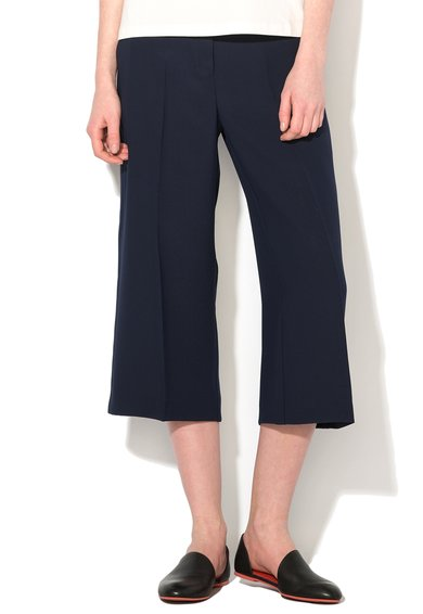 Pantaloni culotte bleumarin Lanciare de la Pennyblack