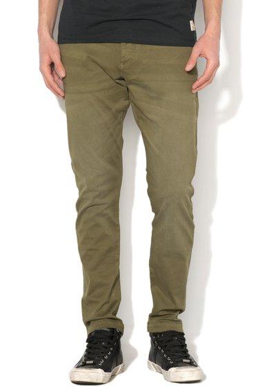 JackJones Pantaloni verde oliv regular fit Cody