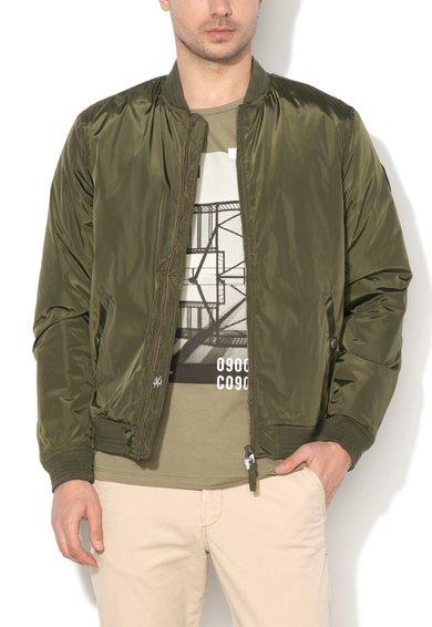 FashionDays.ro: Jacheta bomber verde inchis cu vatelina regular fit Lucky JackJones