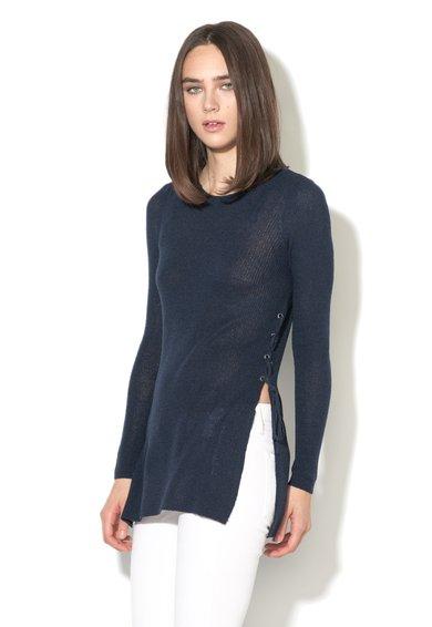 Only Pulover bleumarin tricotat fin cu detalii din dantela Beth