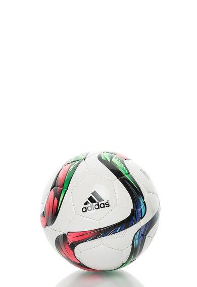 FashionDays.ro: Minge pentru futsal alba cu imprimeu multicolor Conext15 adidas