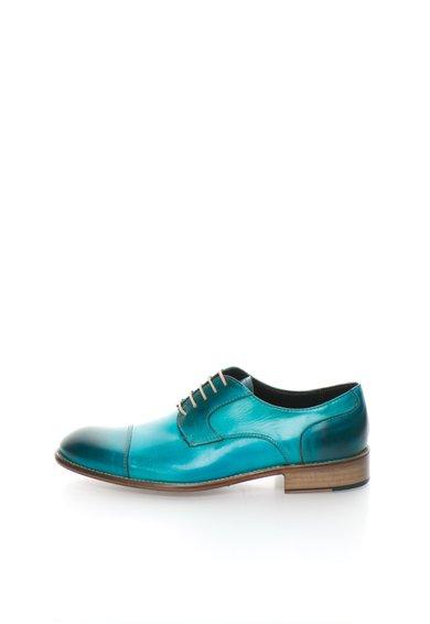 Pantofi turcoaz in degrade de piele Derby de la Zee Lane Collection