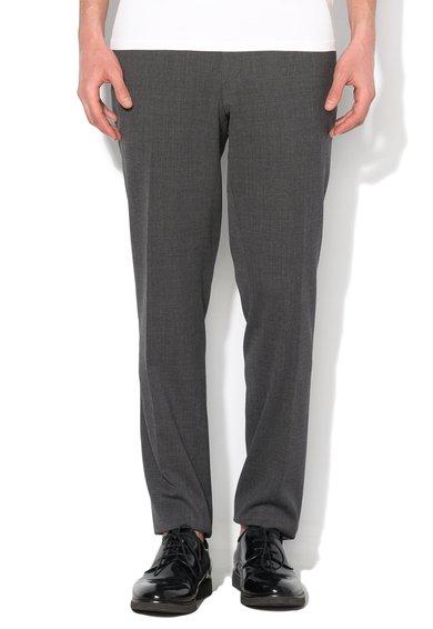 ESPRIT Pantaloni slim fit gri inchis din amestec cu lana virgina