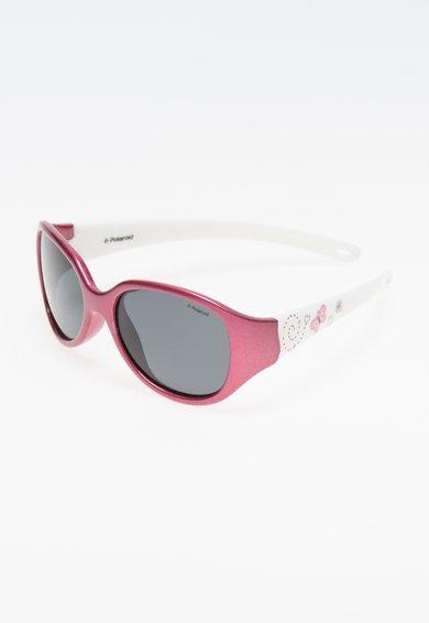 Polaroid Ochelari de soare roz mineral cu alb si lentile polarizate
