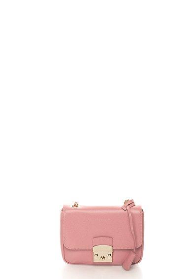 FashionDays.ro: Geanta crossbody roz pastel de piele saffiano Margo COCCINELLE