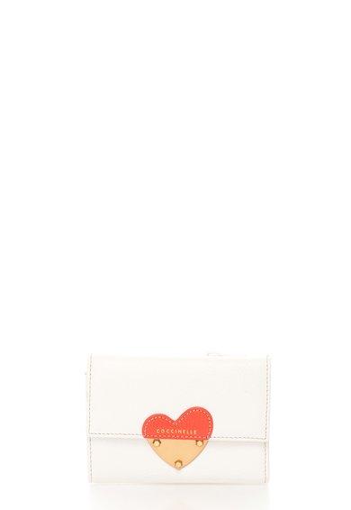 FashionDays.ro: Portofel mic alb de piele texturata COCCINELLE