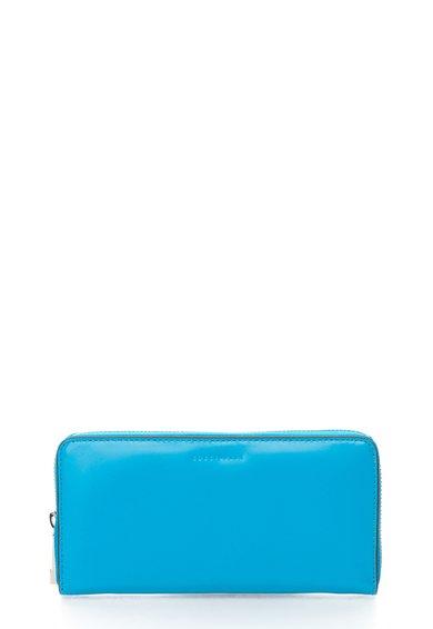 FashionDays.ro: Portofel albastru azur de piele cu fermoar COCCINELLE