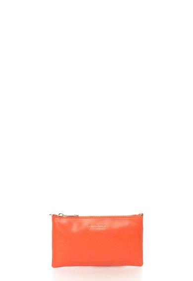 FashionDays.ro: Geanta plic rosu vermillion de piele saffiano cu bareta COCCINELLE