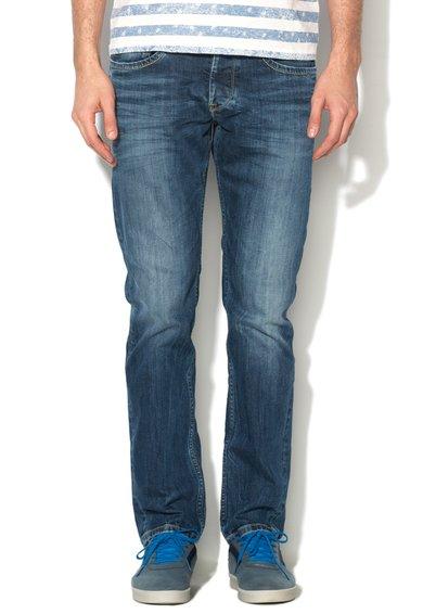 Jeansi regular fit albastru inchis cu aspect decolorat Cash Pepe Jeans London