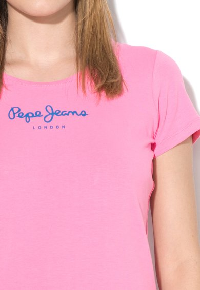Pepe Jeans London Tricou roz garoafa New Virginia Femei image_3