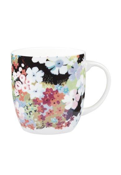 Cana multicolora de portelan fin cu imprimeu floral Sketchbook