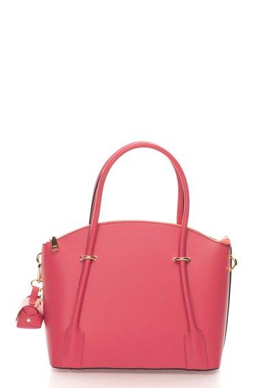 FashionDays.ro: Geanta bowler roz de piele cu portofel mic detasabil Ella Zee Lane Collection