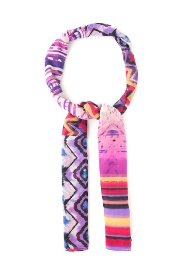 FashionDays.ro: Esarfa multicolora cu diverse imprimeuri Ethnic Desigual