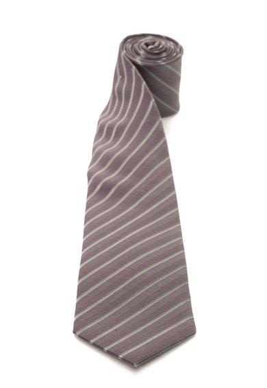 FashionDays.ro: Cravata de matase lila prafuit cu gri in dungi Vincenzo Boretti