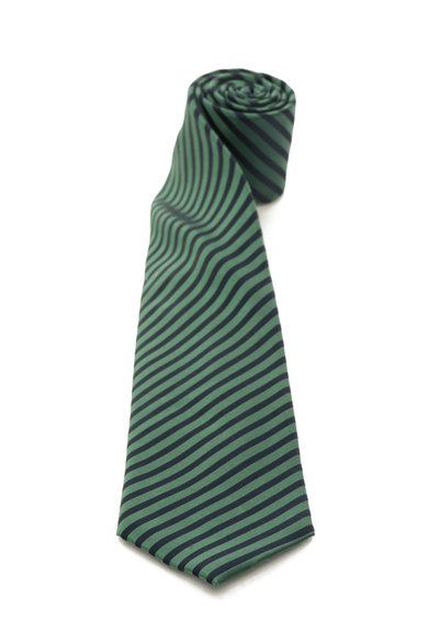 FashionDays.ro: Cravata verde cu bleumarin in dungi de matase Vincenzo Boretti