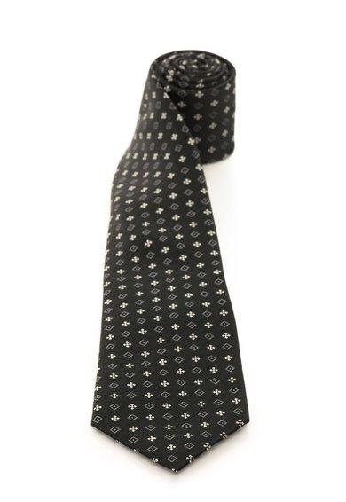 FashionDays.ro: Cravata neagra de matase cu romburi Vincenzo Boretti