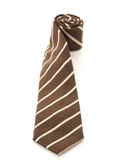 FashionDays.ro: Cravata maro inchis cu auriu deschis de matase in dungi Vincenzo Boretti