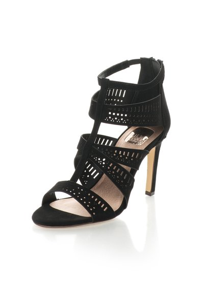 Bullboxer Sandale negre cu toc stiletto si decupaje decorative Femei image_3