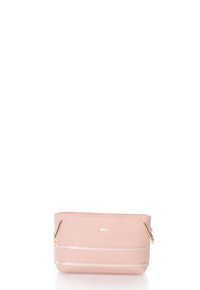 FashionDays.ro: Geanta crossbody roz si bej perlat cu detaliu in dungi JLo by Jennifer Lopez