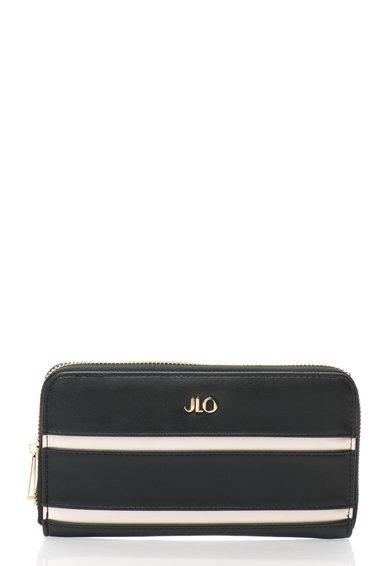 FashionDays.ro: Portofel negru cu bej perlat cu fermoar JLo by Jennifer Lopez