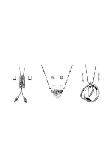Pierre Cardin Set argintiu de pandantive si cercei