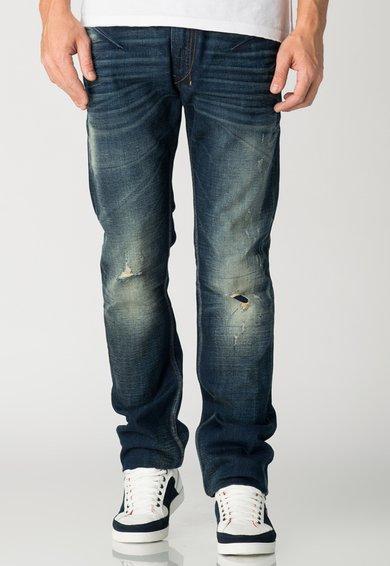 Diesel Jeansi bleumarin cu aspect uzat Shioner